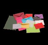 Enveloppen blanco gekleurd
