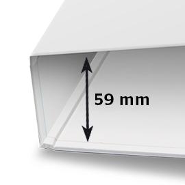 Vulhoogte 59 mm (315 x 285 x 59 mm)
