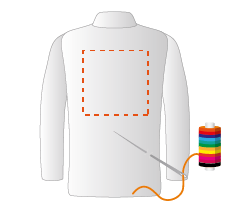 Achterzijde blouse (25x25cm) Borduren