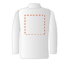 Achterzijde blouse (25x25cm)