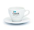 Tasse à cappuccino avec soucoupe