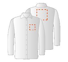 Borst links en Schouders (10x10 en 15x15cm)