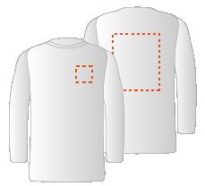 Borst en achterzijde (10x10cm)(30x35cm)