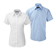 Premium herringbone blouse korte mouw