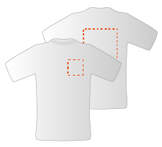 Borst links en achterzijde (10x10cm)(30x35cm)