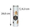 24.6 x 21.1 cm (6.3 cm diameter)