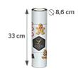 33 x 28.3 cm (8.6 cm diameter)