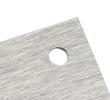 4 trous d'usine pré-percés (8 mm de diamètre)